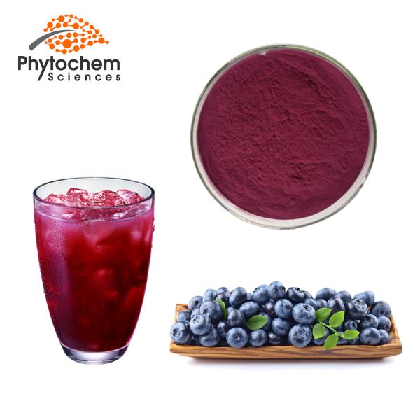 Blue berry juice powder
